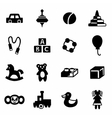 toys icon set vector image vector image