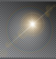 transparent sun light with bokeh isolated o vector image vector image