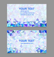 Triangle mosaic business card template design vector image vector image