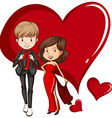 Two gorgeous couple vector image vector image