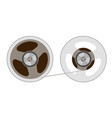 two reels with a tape vector image vector image