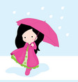 umbrella girl vector image