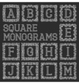 Vintage monograms set Letters from A to M in vector image vector image