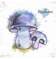 Watercolor mushroom sketch vector image