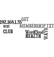 ways to get the most out of your health club vector image vector image