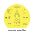 What coworking office space offers vector image vector image