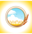 wheat border and wheat field vector image vector image