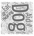 Why Use Hearing Aids for Dogs Word Cloud Concept vector image vector image