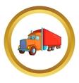 Semi trailer truck icon vector image