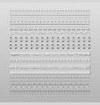 Stitches and dividers vector image