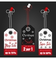Christmas sale tags with snowflakes vector image