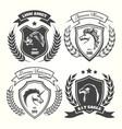 medieval heraldry coat of arm set vector image