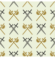 seamless background with swords and axes vector image