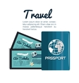 travel passport and tickets airplane vacation vector image