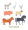 Farm Animals Set Stickers for Children vector image