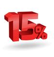 15 percent digits vector image vector image