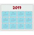 2017 year calendar template vector image