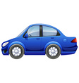 A blue vehicle vector image vector image
