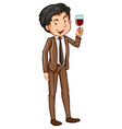 A simple man wearing a formal attire vector image vector image
