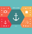 anchor icon symbol vector image