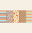 autumn seamless pattern background with fall vector image vector image