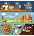 Beer Flat Banner Set vector image vector image