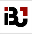 bj ibj bij initials geometric letter company logo vector image vector image