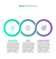 business infographics timeline with with 3 vector image vector image
