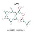 C9H8O4 aspirin molecule vector image vector image