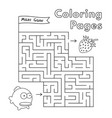 cartoon fish maze game vector image