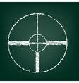 Chalk icon on green board vector image vector image