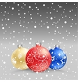 Christmas baubles gray bk vector image vector image