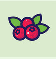 cow-berry or cranberry ripe berries vector image