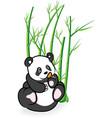 cute Panda Bear in Bamboo Forrest 03 vector image