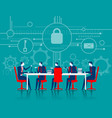 cybersecurity business meeting security vector image vector image
