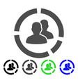 demography diagram flat icon vector image vector image