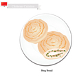 Dumpling Bing or Chinese Flat Bread with Scallion vector image vector image