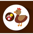 farm countryside animal chicken design vector image vector image
