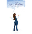 fashion woman collection flat signboard on blue vector image
