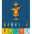 Flat design scarecrow vector image