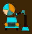 flat shading style icon automotive industry vector image vector image