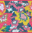 floral seamless colored pattern vector image vector image