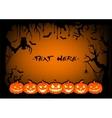 Frame halloween pumpkin vector image vector image