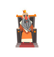funny king character sitting on the throne cartoon vector image
