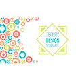 gears banner design template innovation ideas vector image vector image