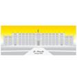 graphic chilean presidential palace la moneda vector image vector image