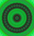 Green floral fractal mandala design background vector image vector image