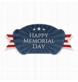 Happy Memorial Day greeting Badge with Ribbon vector image vector image