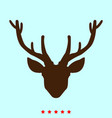 head deer set it is color icon vector image vector image