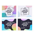 holiday limited discount offer typography banner vector image vector image